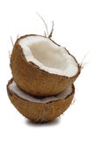 Broken a coconut Stock Image