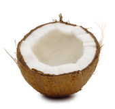 Broken a coconut Royalty Free Stock Photo