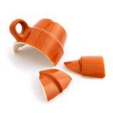 Broken coffee cup Stock Photo