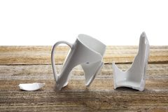 Broken Coffee Cup Royalty Free Stock Photo