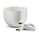 Broken coffee cup Stock Image