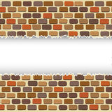 Broken color bricks wall space for text design Royalty Free Stock Images