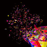 Broken colorful diamond background Stock Images