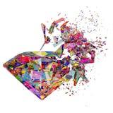 Broken colorful diamond background Royalty Free Stock Image