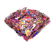 Broken colorful diamond background Stock Photography