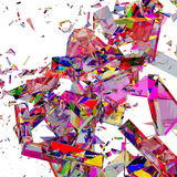 Broken colorful glass background Royalty Free Stock Photo