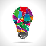 Broken colorful idea with light bulb Stock Image