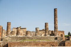 Broken Columns in Pompeii Royalty Free Stock Photography