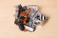 Broken compact digital camera spare parts Royalty Free Stock Photo