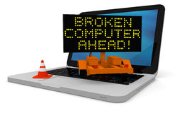Broken computer Stock Photo