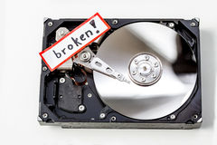 Broken computer hard disk Stock Photo