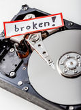 Broken computer hard disk Royalty Free Stock Image