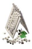 Broken Computer Keyboard Royalty Free Stock Photos