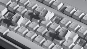 Broken computer keyboard Royalty Free Stock Image