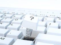 Broken computer keyboard Stock Photography