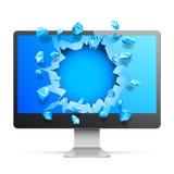 Broken Computer Monitor Royalty Free Stock Image