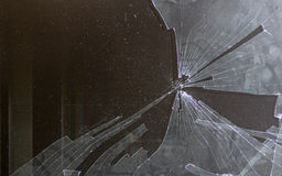 Broken computer screen. Background of a broken computer screen stock images