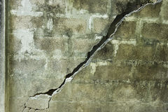 Broken concrete wall Royalty Free Stock Photography