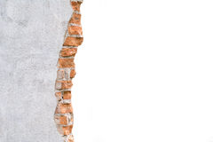 Broken concrete wall. stock photography