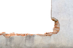 Broken concrete wall. Stock Photo