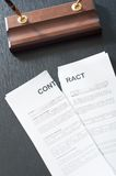 Broken Contract Royalty Free Stock Image