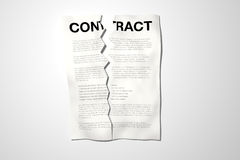 Broken Contract Royalty Free Stock Photography