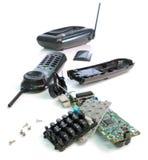 Broken Cordless phone Stock Image