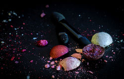 Broken cosmetics balls Royalty Free Stock Images