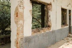 Broken courtyard building Stock Image