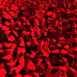 Broken cracked destruction red wall surface background. 3d render illustration Royalty Free Stock Photography