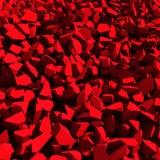 Broken cracked destruction red wall surface background. 3d render illustration stock illustration