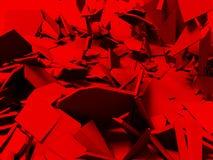 Broken cracked destruction red wall surface background. 3d render illustration vector illustration