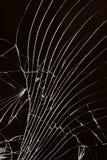 Broken cracked glass. stock photos