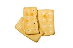 Broken crackers Royalty Free Stock Photo
