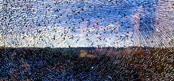 Broken crashed glass Royalty Free Stock Images