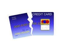 Broken credit card Stock Photo