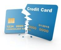 Broken credit card Stock Photo