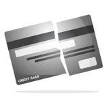 Broken creditcard Stock Photos