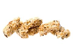 Broken Crisped Rice Cakes Stock Photos