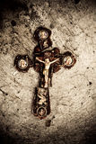 Broken cross Royalty Free Stock Image