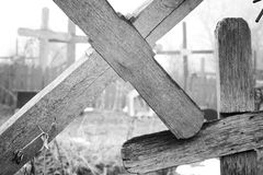 Broken Crosses Royalty Free Stock Photo