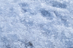 Broken crushed ice winter snow background stock images