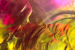 Broken crystal background. Colorful cracked glass texture and magic shapes stock photo