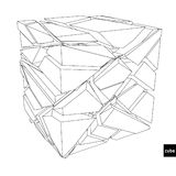 Broken Cube. Concept design. Vector illustration Royalty Free Stock Images