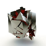 Broken cube Royalty Free Stock Images