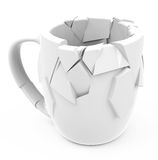 The broken cup Royalty Free Stock Photo