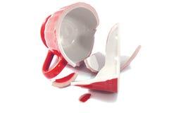 Broken cup Royalty Free Stock Image