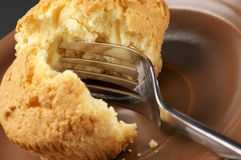 Broken cupcake Stock Images