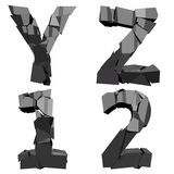 Broken 3D letters Royalty Free Stock Image