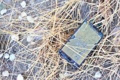 Broken damage  mobile in sun light Stock Photos